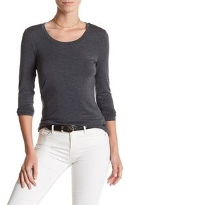 14th & Union Long Sleeve Knit Scoop Neck Tee Shirt